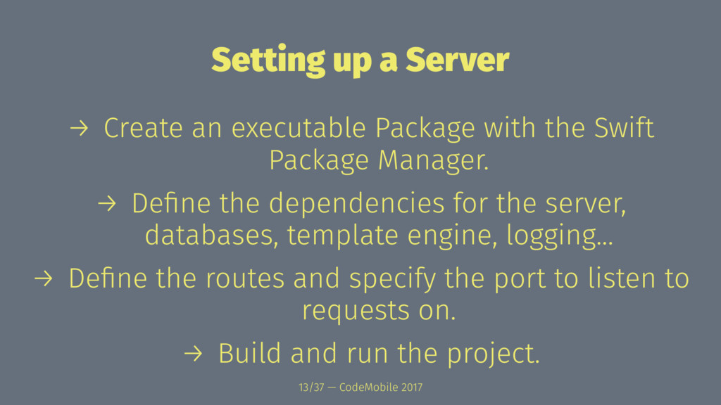 Setting up a Server → Create an executable Pack...