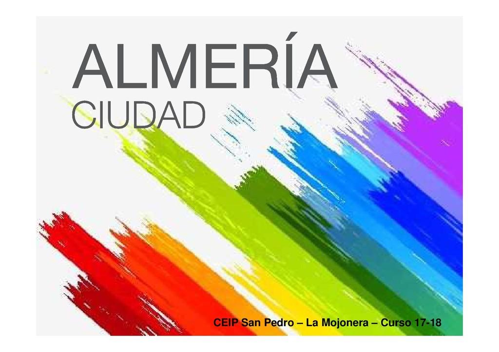 CEIP San Pedro – La Mojonera – Curso 17-18