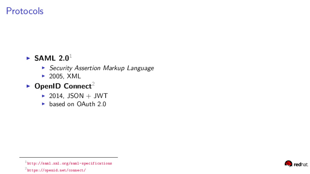 Protocols SAML 2.01 Security Assertion Markup L...
