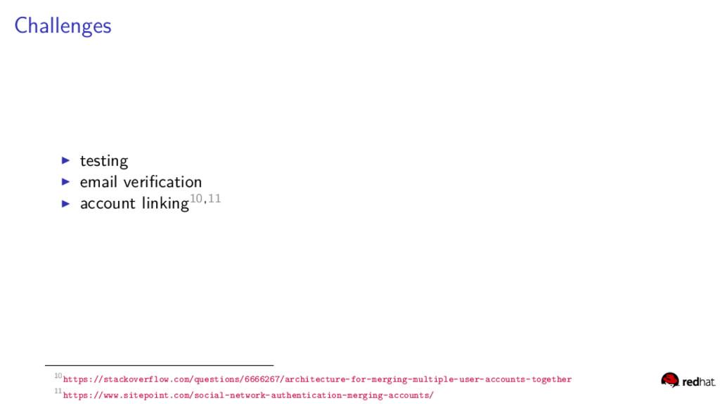 Challenges testing email verification account li...