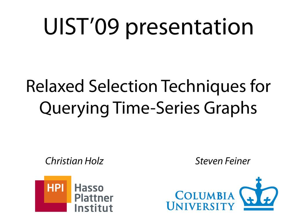 UIST'09 presentation Christian Holz Steven Fein...