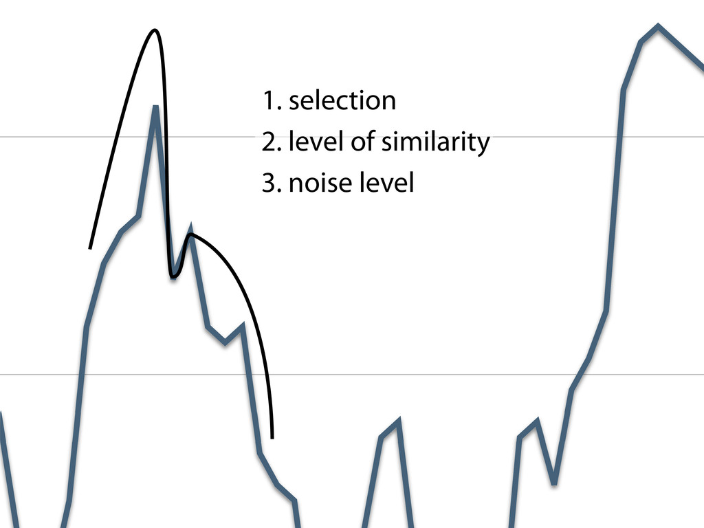 1. selection 2. level of similarity 3. noise le...