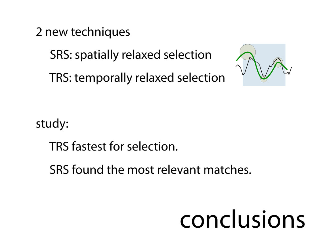 conclusions 2 new techniques SRS: spatially rel...