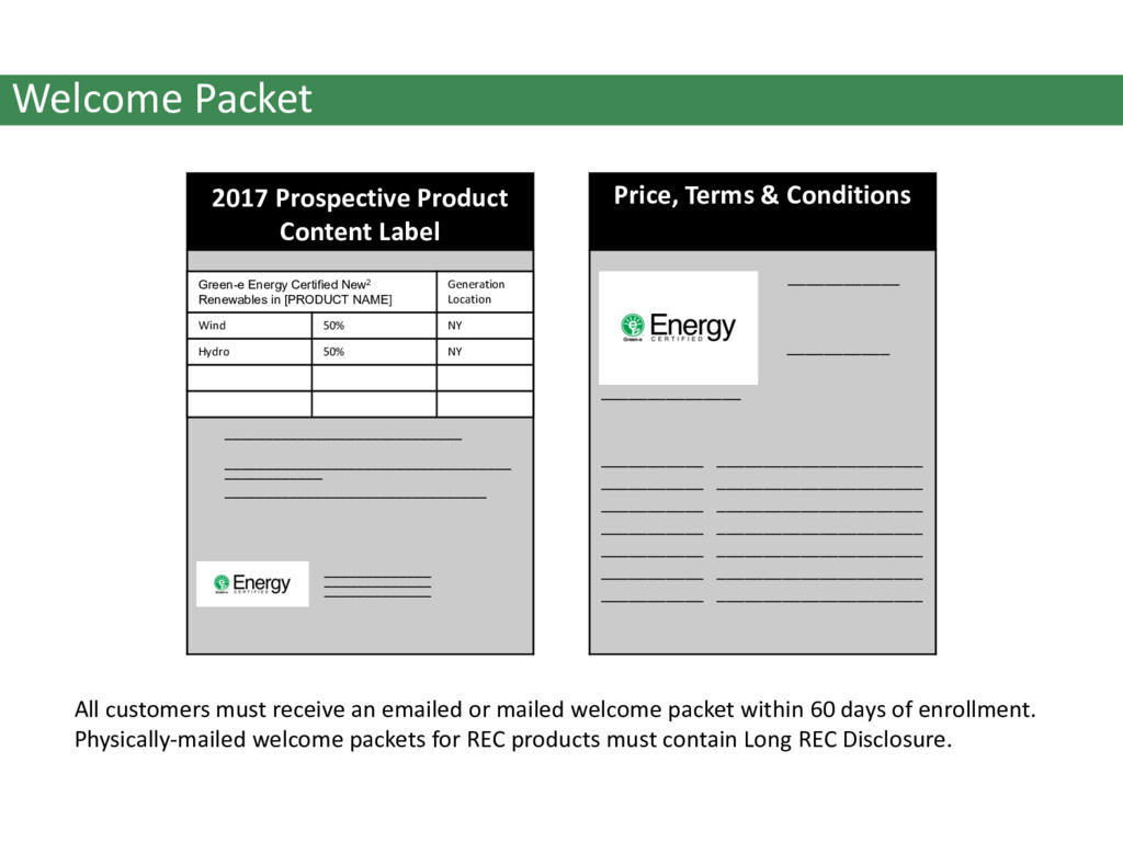 Welcome Packet 2017 Prospective Product Content...