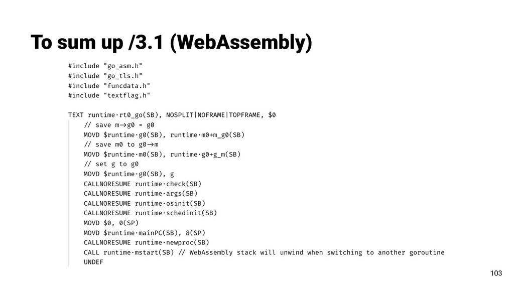 To sum up /3.1 (WebAssembly) 103