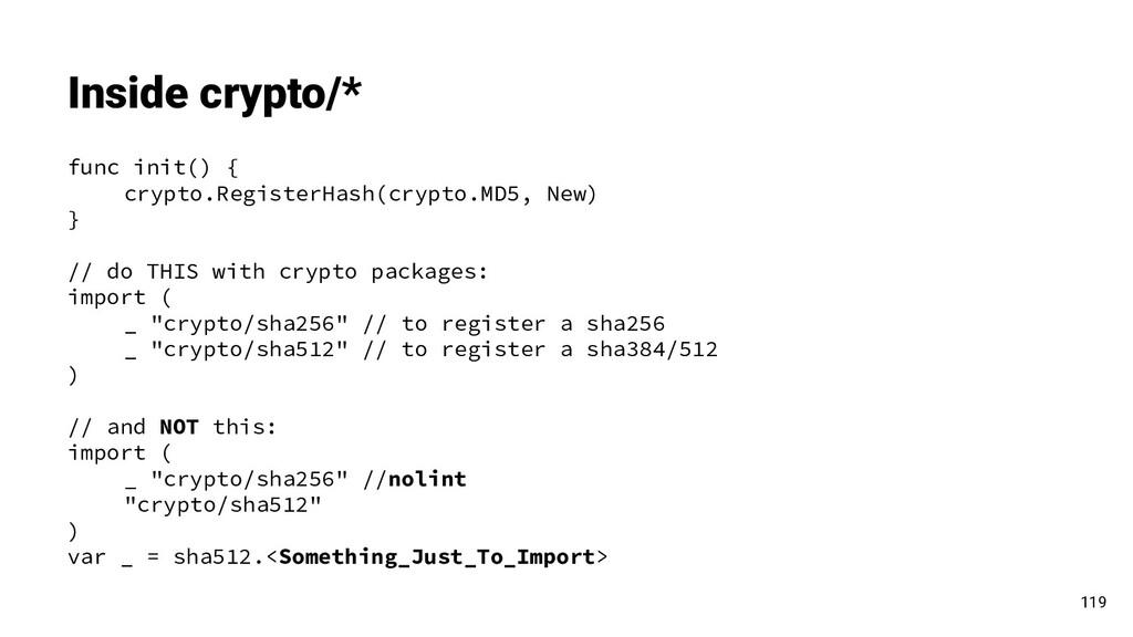 func init() { crypto.RegisterHash(crypto.MD5, N...