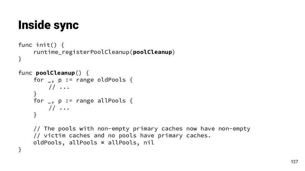 func init() { runtime_registerPoolCleanup(poolC...