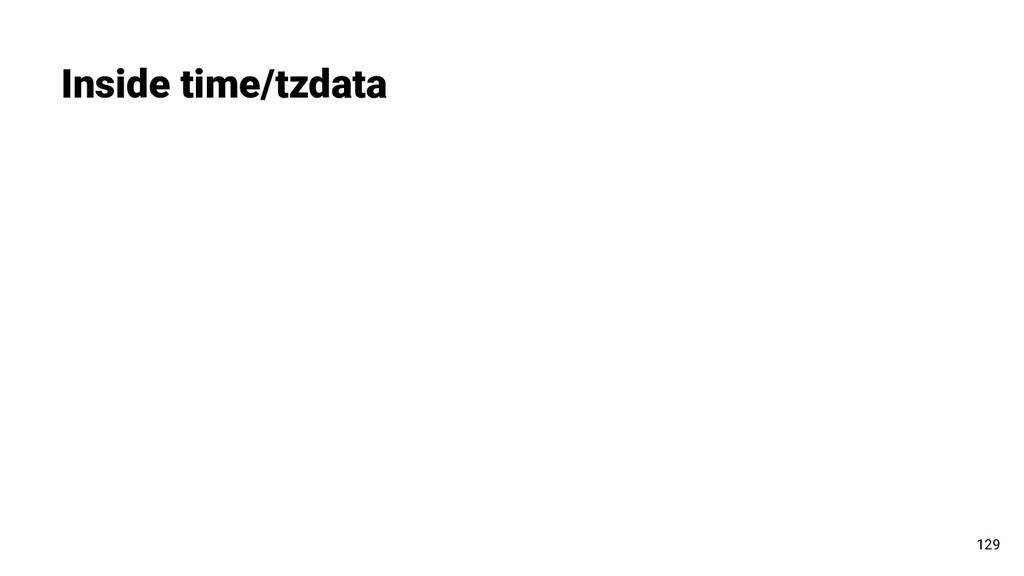 Inside time/tzdata 129