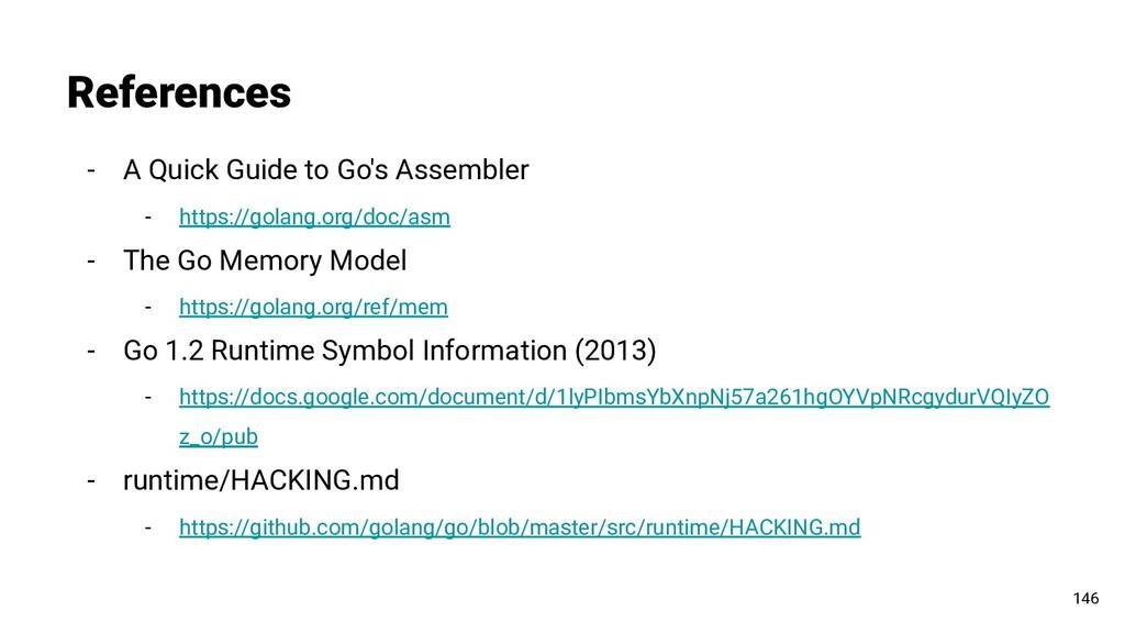 - A Quick Guide to Go's Assembler - https://gol...