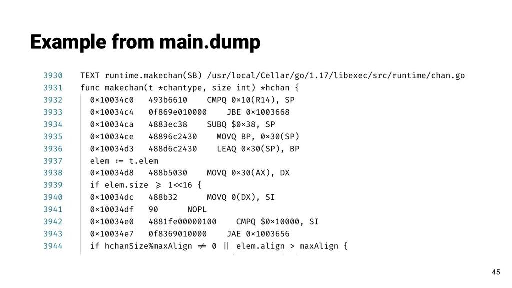 Example from main.dump 45