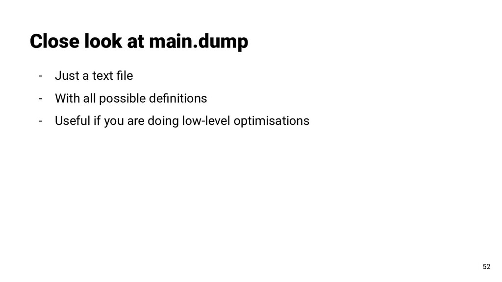 Close look at main.dump 52 - Just a text file - ...