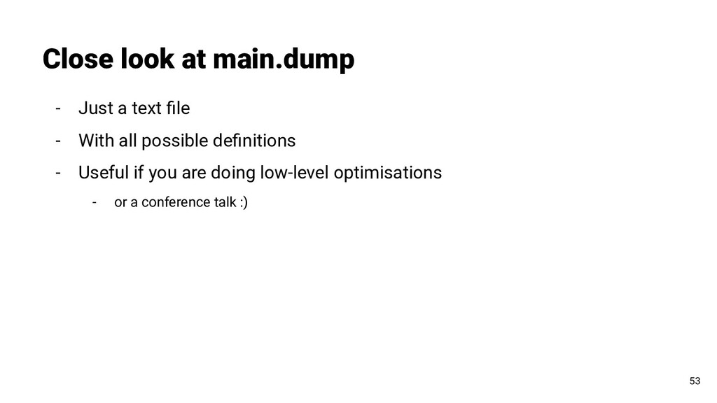 Close look at main.dump 53 - Just a text file - ...