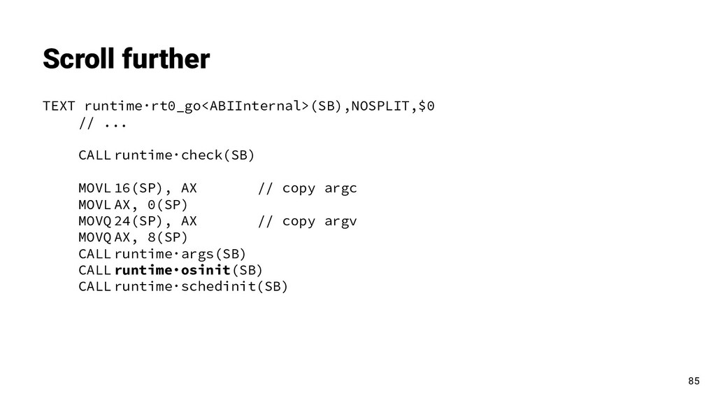 Scroll further 85 TEXT runtime·rt0_go<ABIIntern...