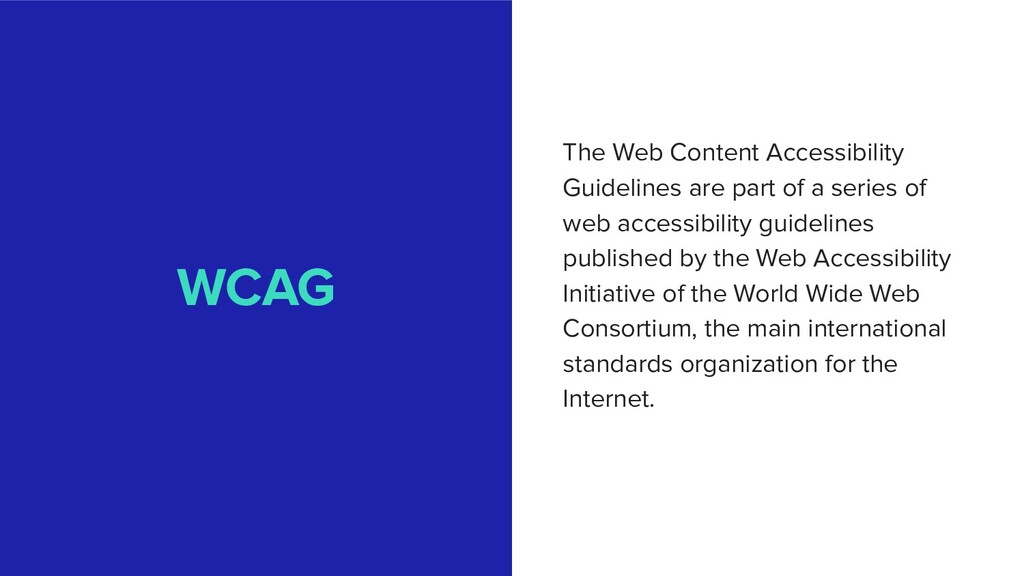 WCAG The Web Content Accessibility Guidelines a...