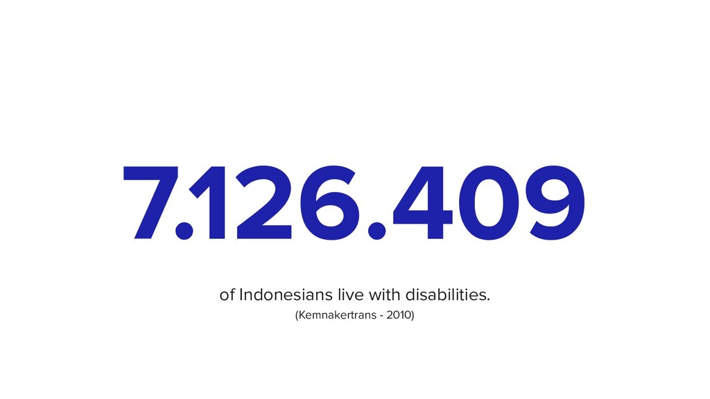 7.126.409 of Indonesians live with disabilities...