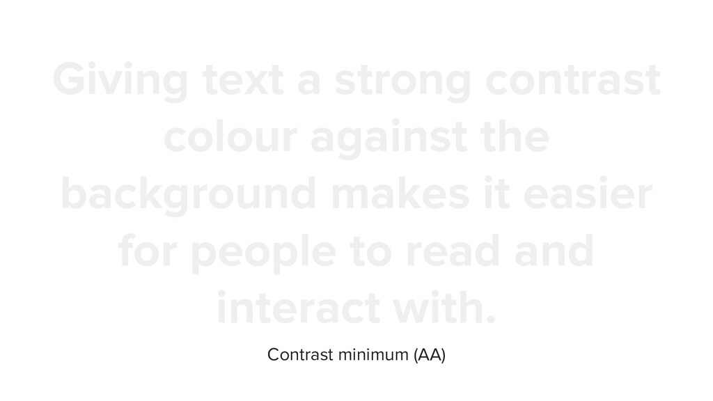 Giving text a strong contrast colour against th...