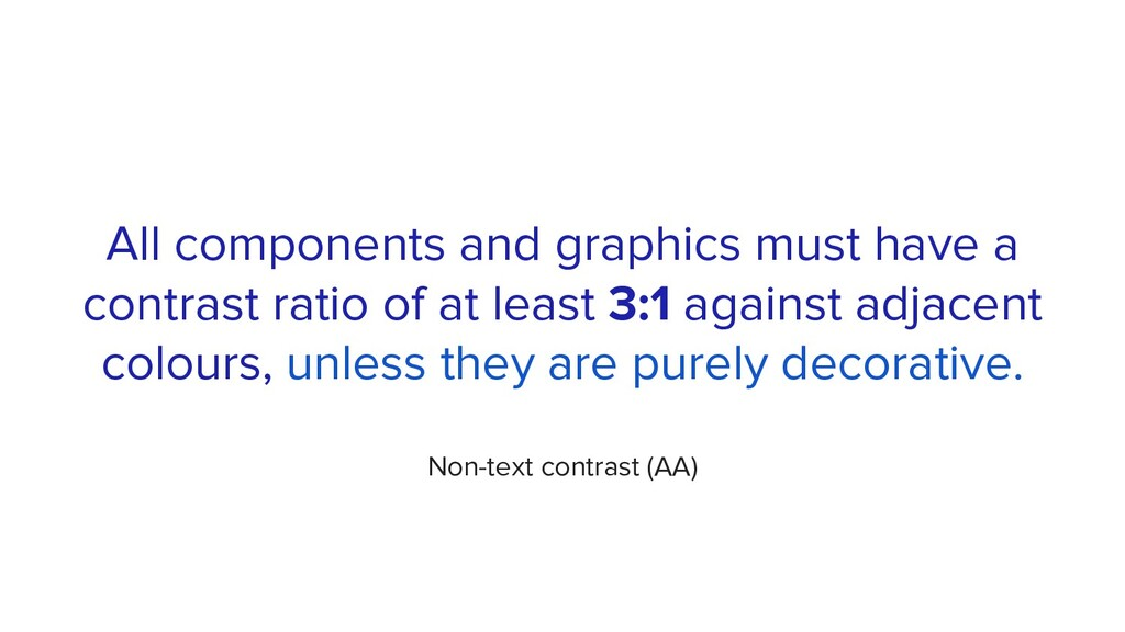 All components and graphics must have a contras...