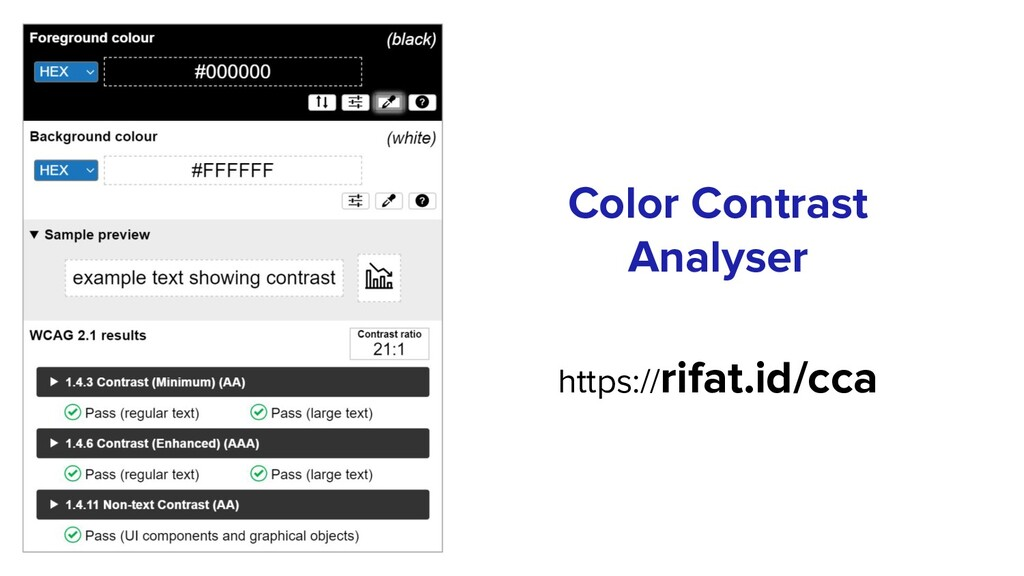 Color Contrast Analyser https://rifat.id/cca