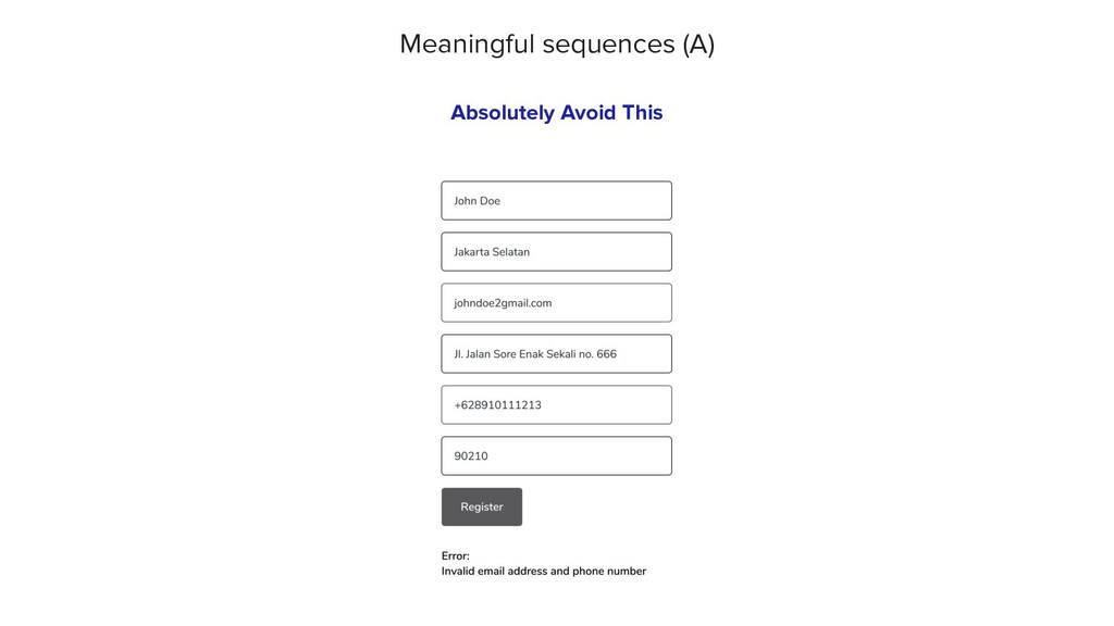 Meaningful sequences (A) Absolutely Avoid This