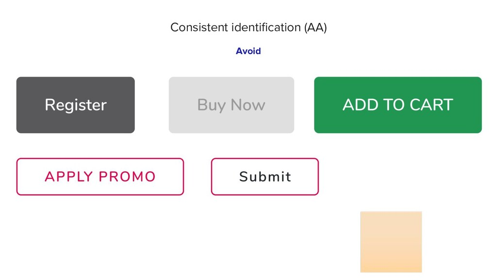 🏻 Avoid Consistent identification (AA)