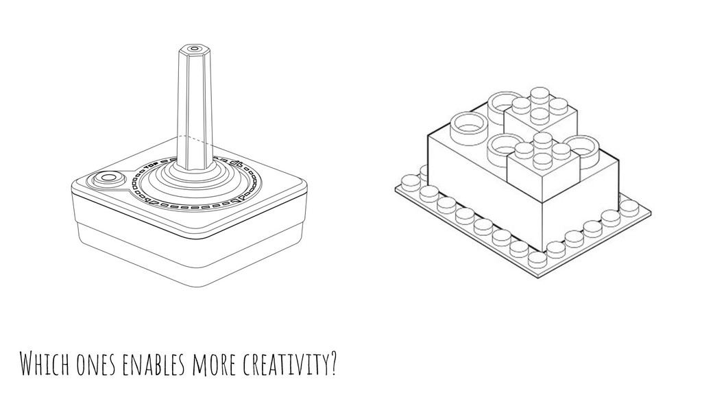 Which ones enables more creativity?