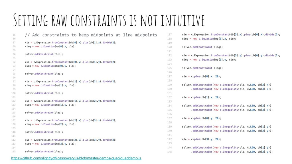 Setting raw constraints is not intuitive https:...