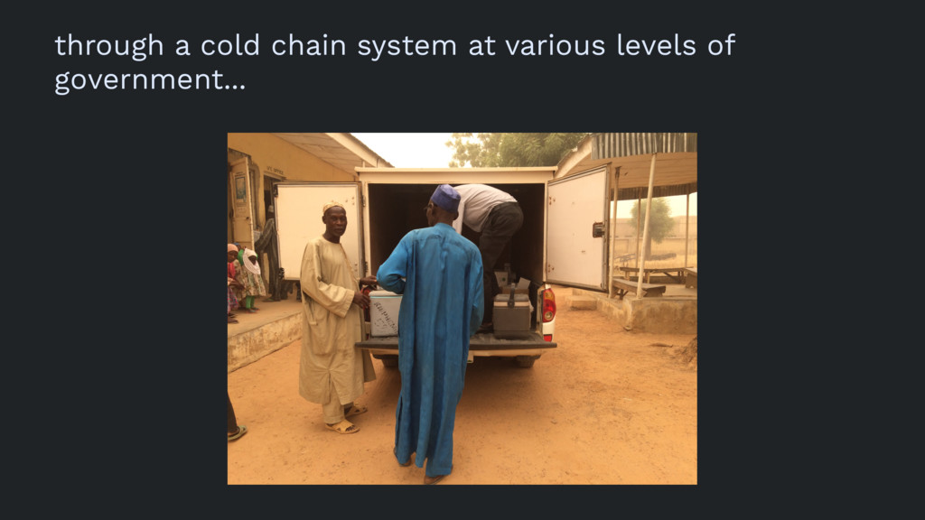 through a cold chain system at various levels o...