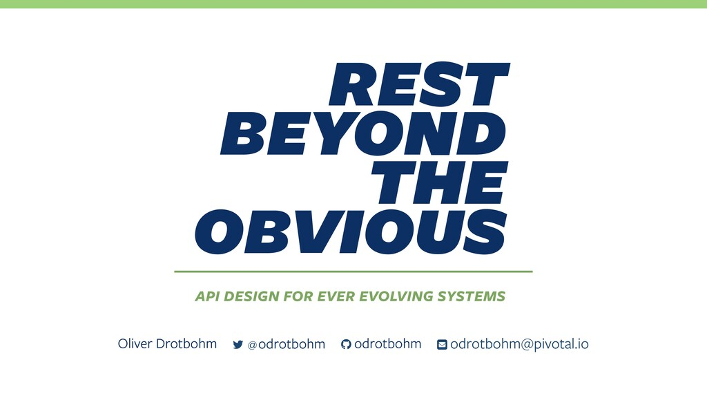 rest beyond the obvious API design for ever ...