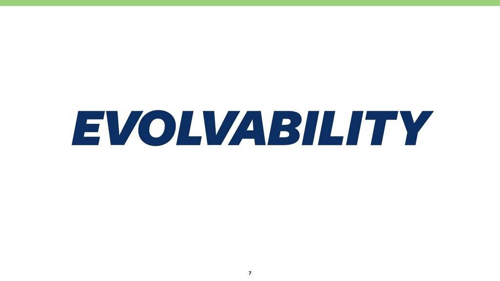 EVOLVABILITY 5