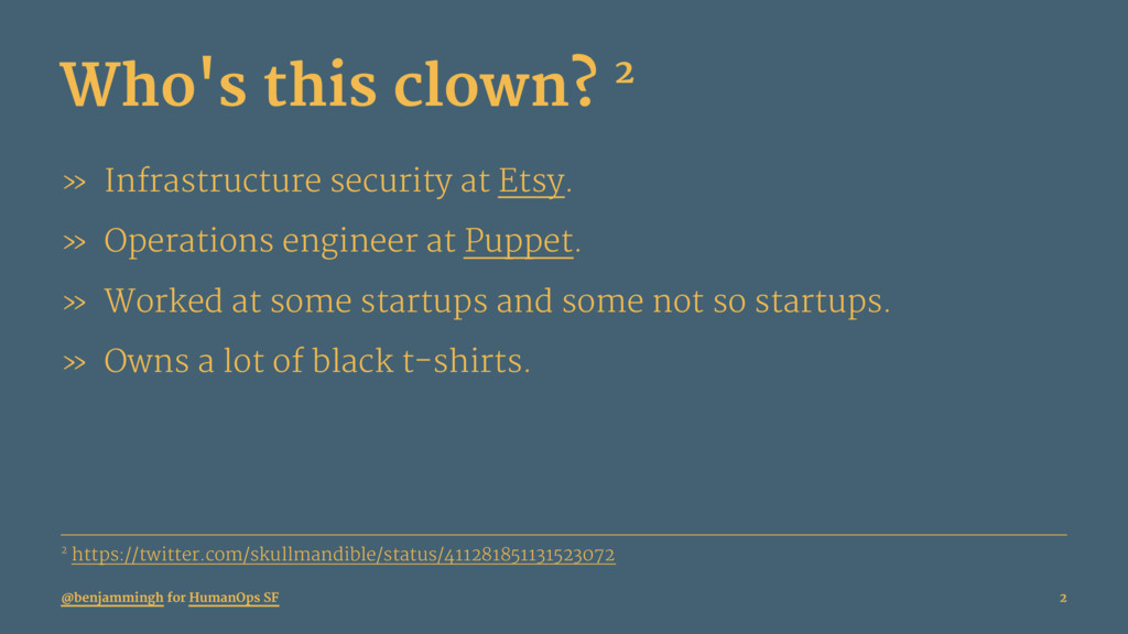 Who's this clown? 2 » Infrastructure security a...