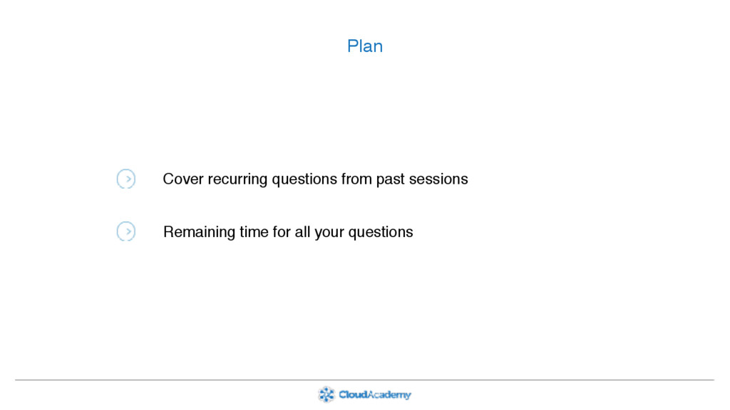 Plan Cover recurring questions from past sessio...