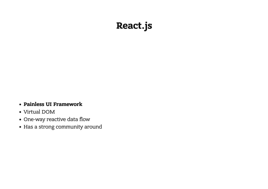 React.js Painless UI Framework Virtual DOM One-...