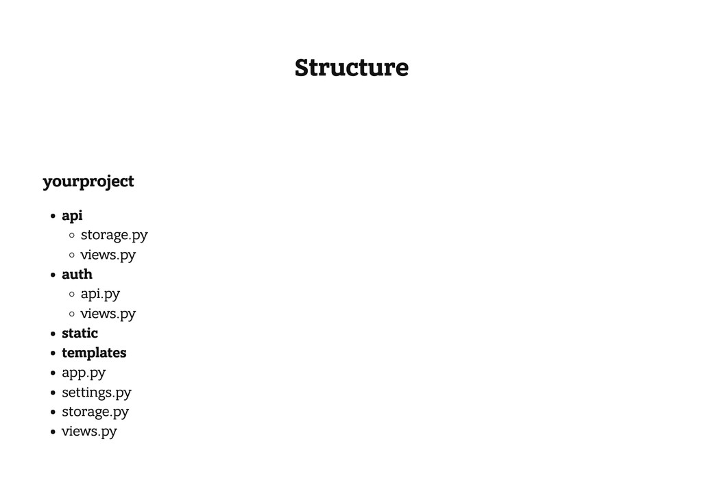 Structure yourproject api storage.py views.py a...