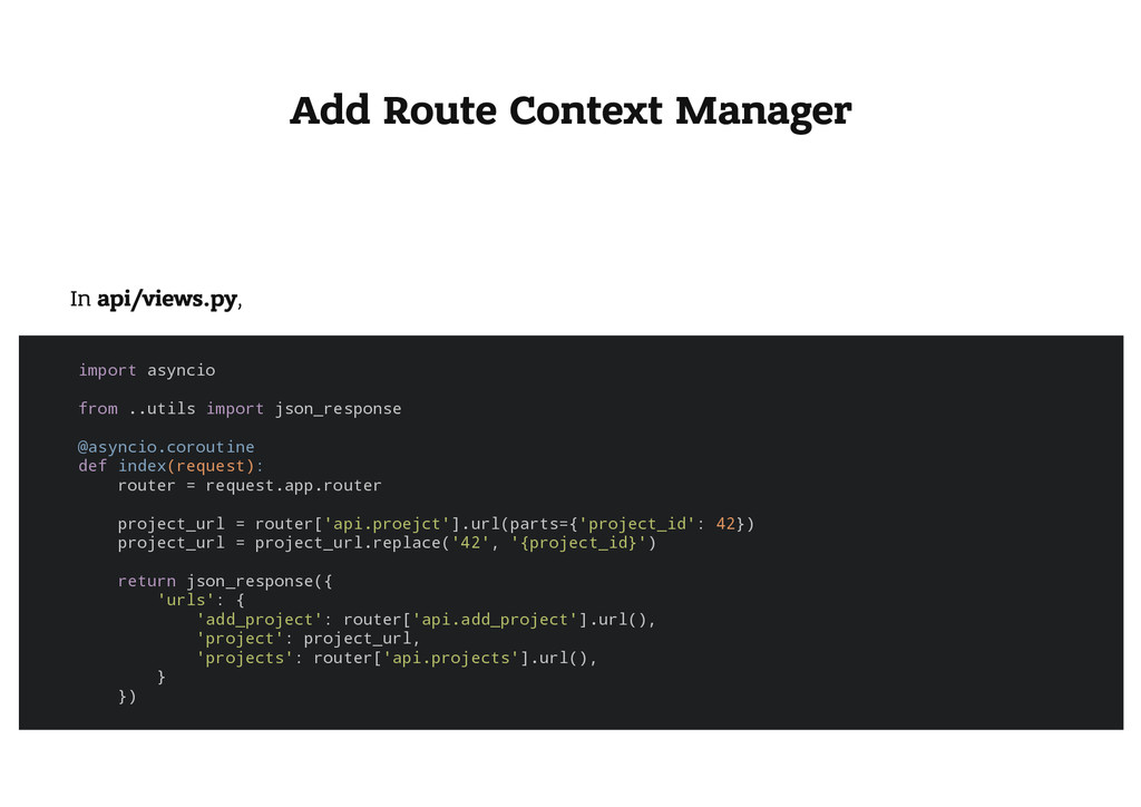 Add Route Context Manager In api/views.py, i m ...