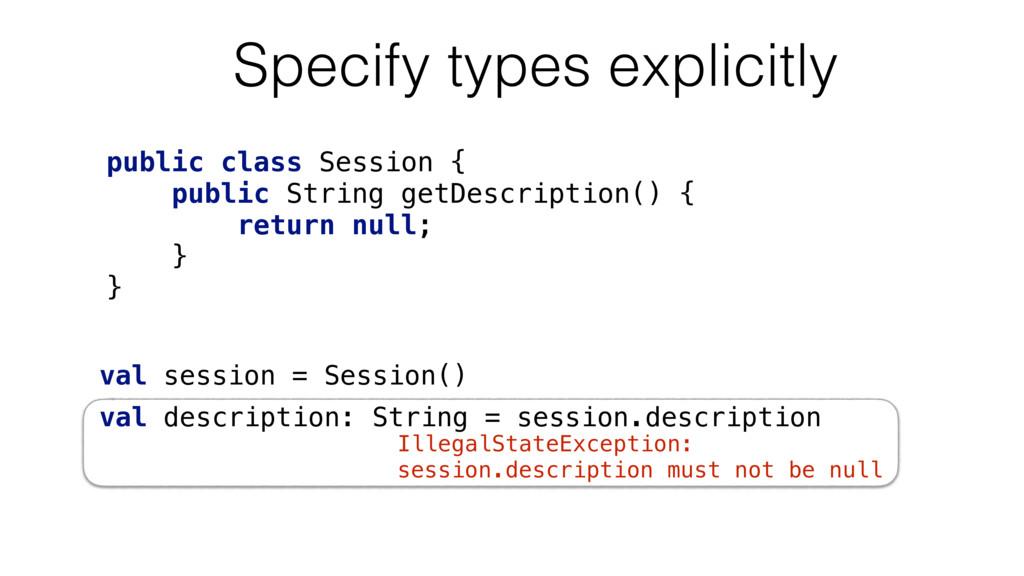IllegalStateException: session.description must...