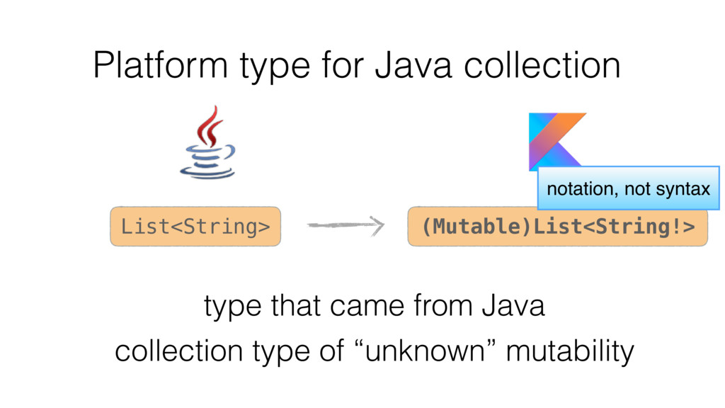 Platform type for Java collection collection ty...