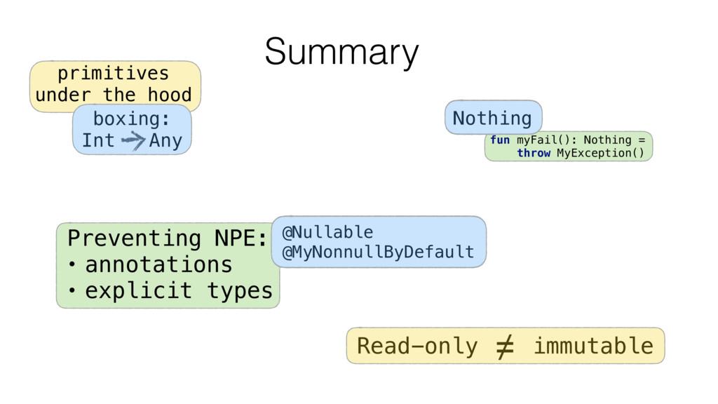 Summary fun myFail(): Nothing = throw MyExcepti...