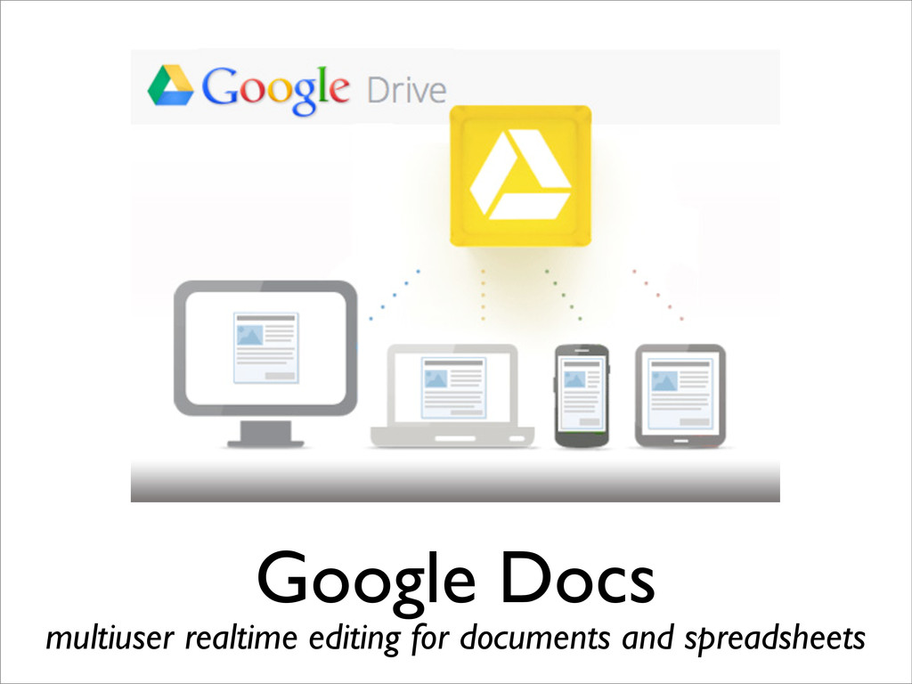 Google Docs multiuser realtime editing for docu...