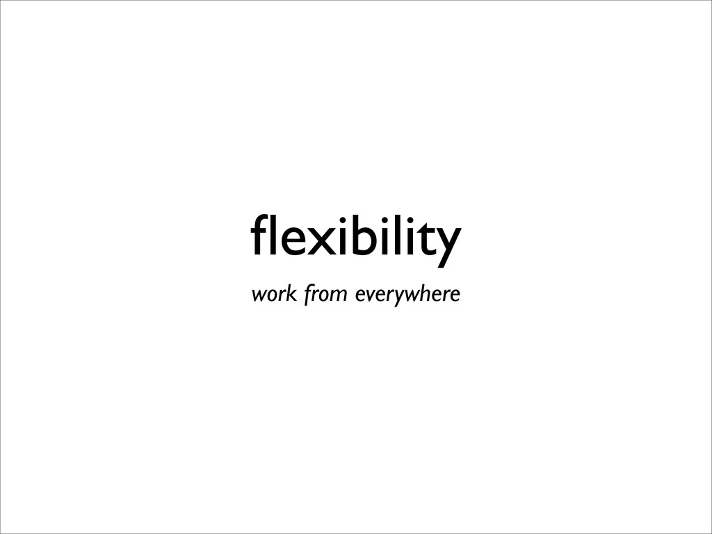 flexibility work from everywhere