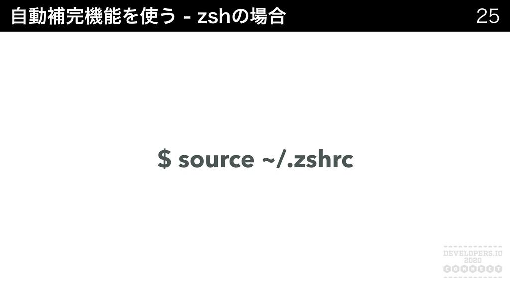 ࣗಈิػΛ͏[TIͷ߹  $ source ~/.zshrc