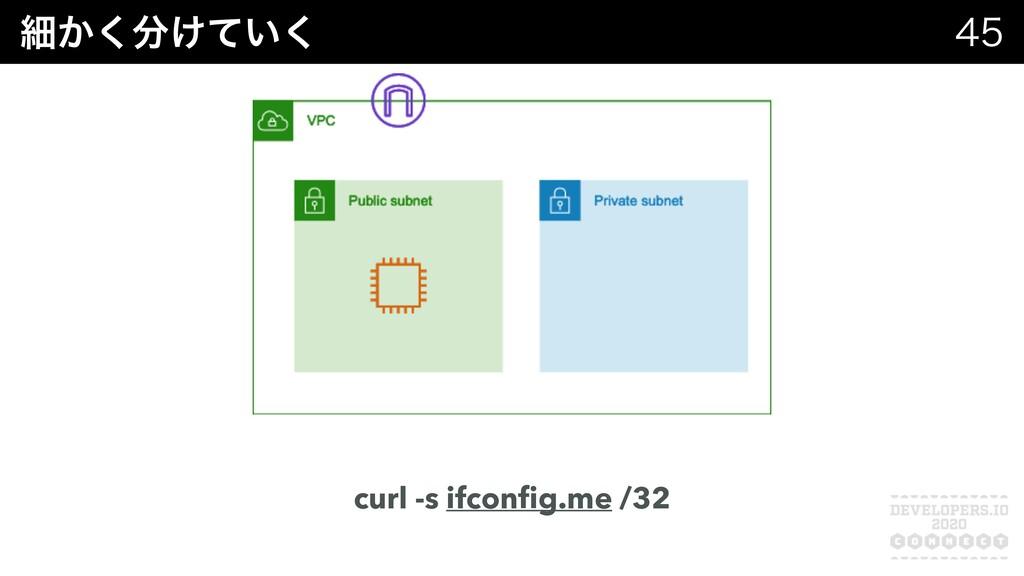 ࡉ͔͚͍ͯ͘͘  curl -s ifconfig.me /32