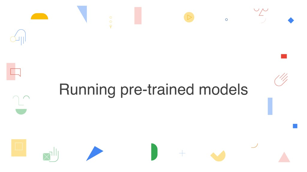 Running pre-trained models