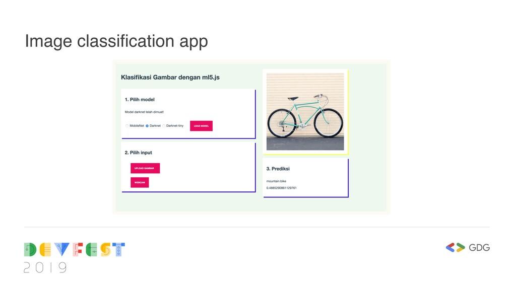 Image classification app