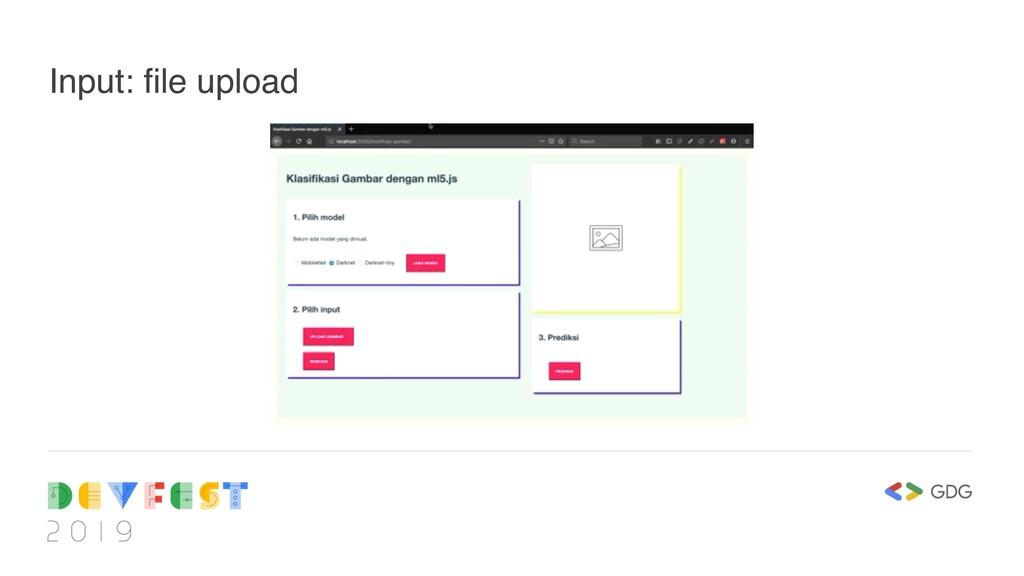 Input: file upload