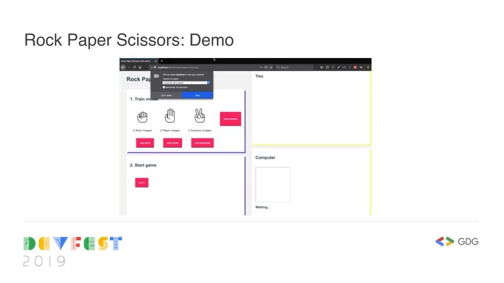 Rock Paper Scissors: Demo