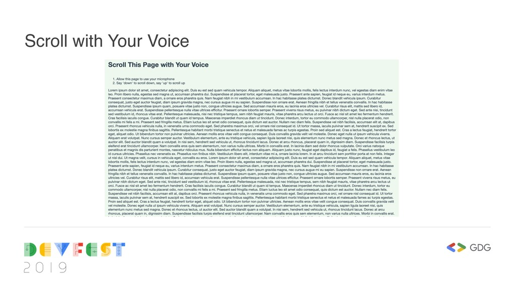 Scroll with Your Voice