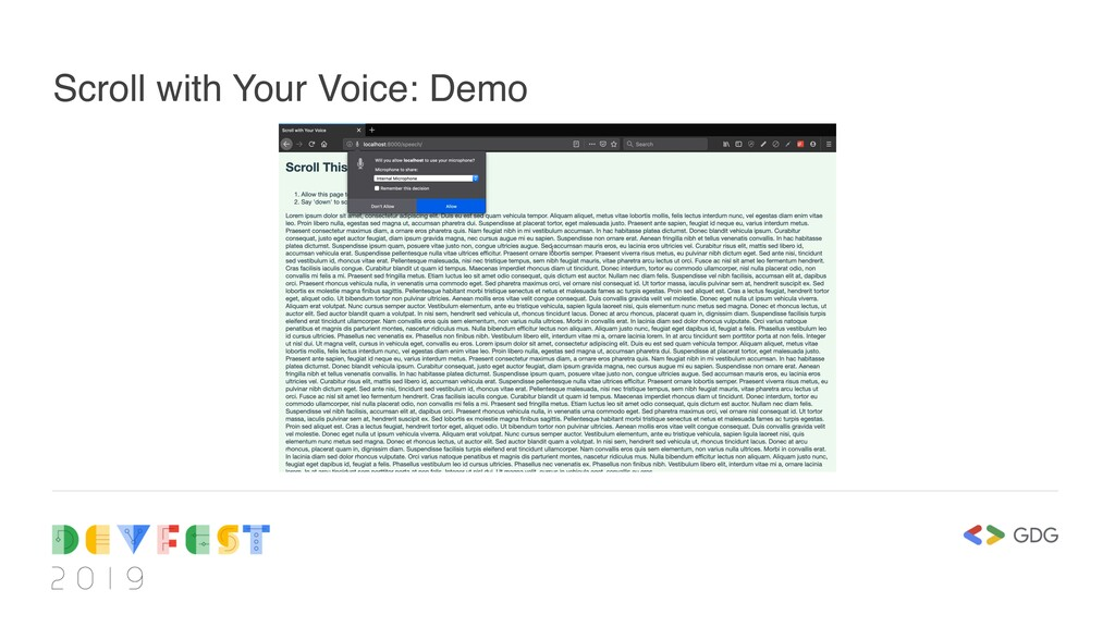 Scroll with Your Voice: Demo