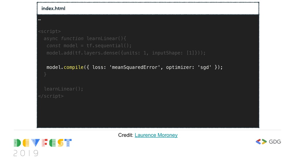 index.html … <script> async function learnLinea...