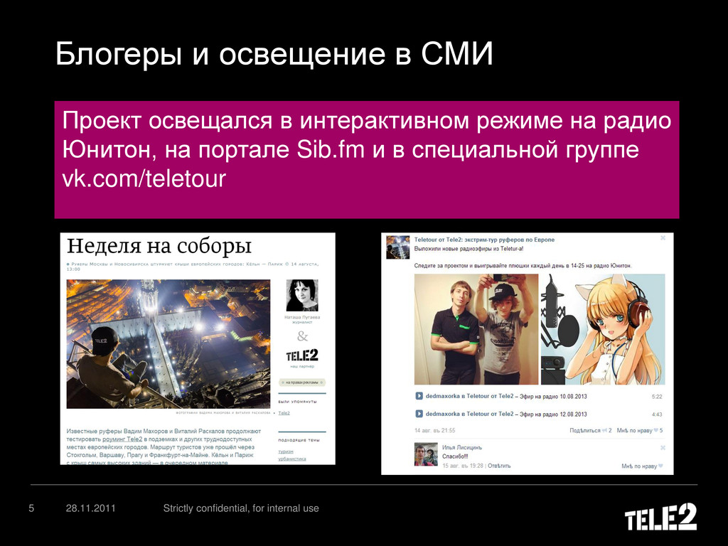 Блогеры и освещение в СМИ 28.11.2011 Strictly c...