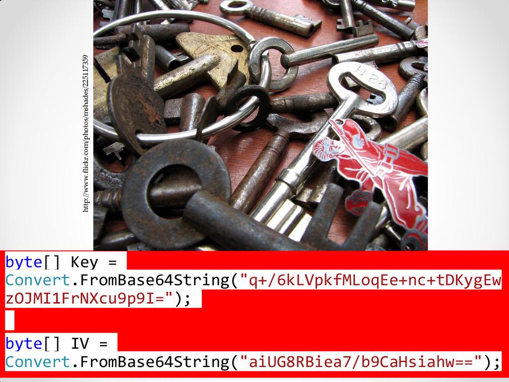 @jkuemerle / www.kuemerle.com byte[] Key = Conv...
